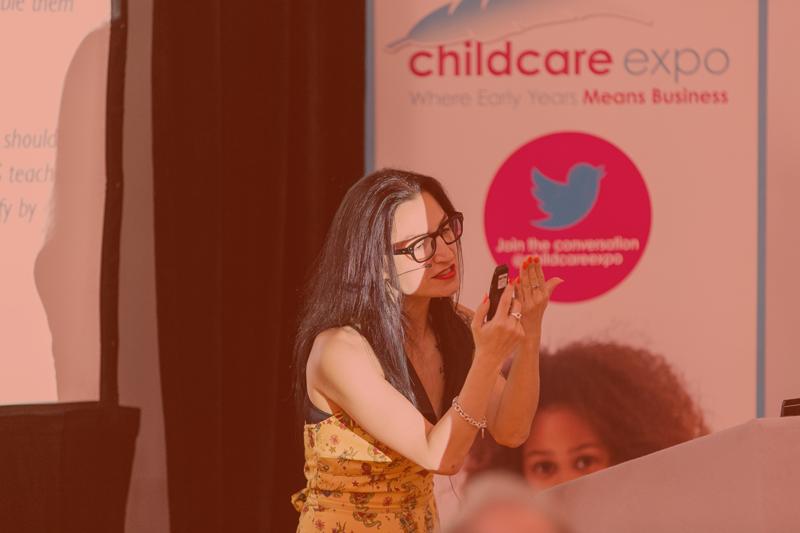 Mine Conkbayir speaking at Childcare Expo